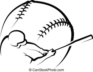 Baseball Design 1 - Vector illustration of a baseball and...