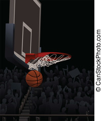 Basketball Swish - This is a vector illustration of a...