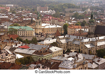 Historical center of Lviv / Lvov in western Ukraine....