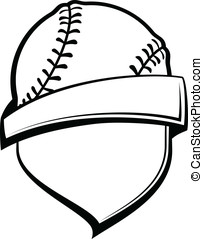 Baseball or Softball Shield - Vector illustration of a...