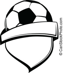 Soccer Shield - Vector illustration of a shield with a...