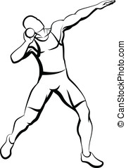 Shot Putter - Vector illustration of a shot putter....