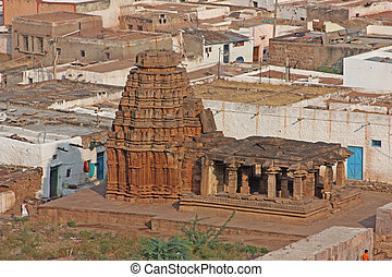 Beautiful ancient temple in Badami, Karnataka, India