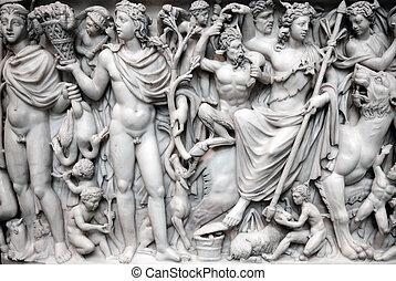 romana, antiga, sarcófago