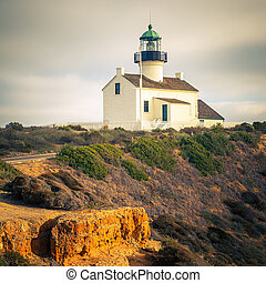 Point Loma Lighthouse in Cabrillo National Park, San Diego