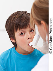 Emergency assistance for a child with respiratory problems