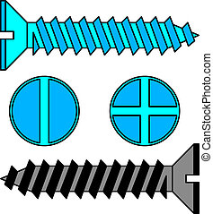 Stainless steel screw Vector illustration