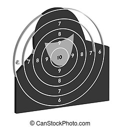 The target for shooting practice