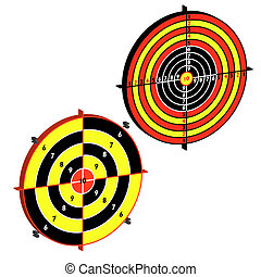 Set targets for practical pistol shooting, exercise Vector...