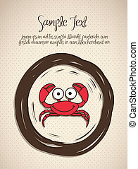 illustration of crab, fish Drawings, aquatic animals, vector...
