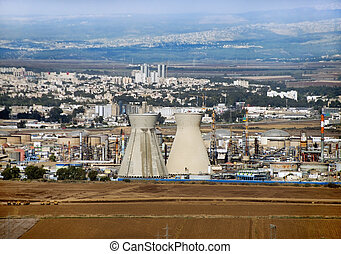 Israeli oil Refinery in Haifa, Israel