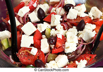 蔬菜, 希臘語, 沙拉, 新鮮