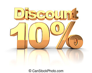 Discount 10 percent - Discount coupon with 10 percent on a...