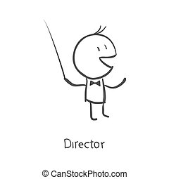 orchestra conductor directing