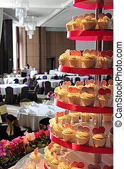 wedding cup cake - The wedding cup cake on a table