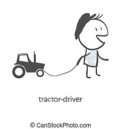 The driver of the tractor