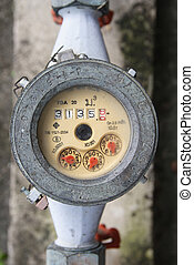 meter of the water and metal pipes , Format Thailand