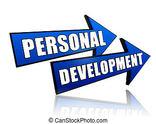 personal development in arrows - text personal development...