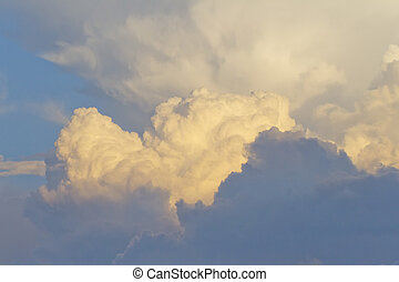 Clouds - View of the sky with clouds, ideal for background