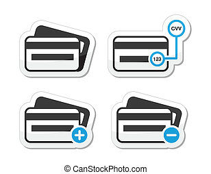 Credit Card, CVV code icons as labe - <br/>...