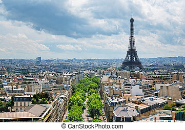 The Eiffel Tower, Paris - France - View of Eiffel Tower from...