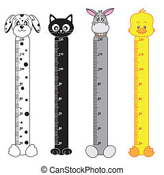 Bumper children meter wall Animals Stickers