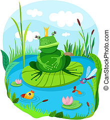 frog - vector illustration of a frog