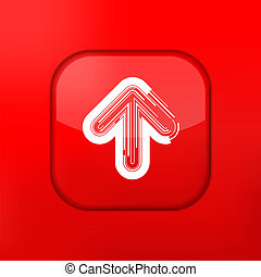 Vector red arrow icon Eps10 Easy to edit