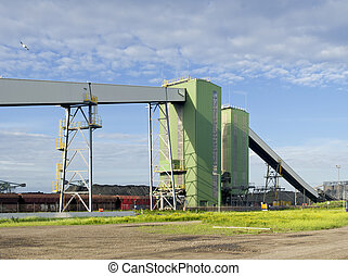 large conveyor belt - huge conveyor belt for the coal...