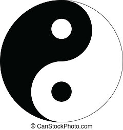 Yin Yang sign isolated on white