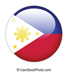 Philippines flag button on white