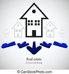 vector real estate background. Eps10