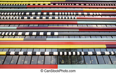 Modern architecture - The colorful façade of a building...
