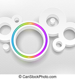 Round shapes with multicolor circle - Abstract vector...
