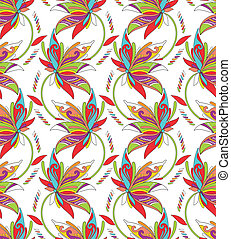 Seamless background for textile