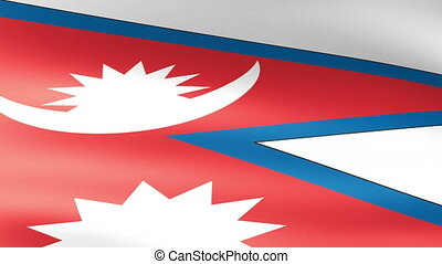 Nepal Flag Waving