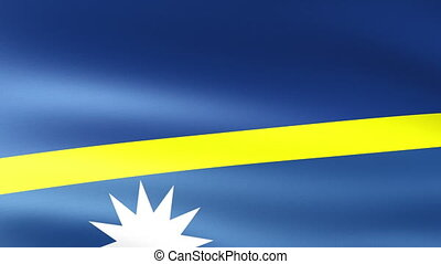 Nauru Flag Waving