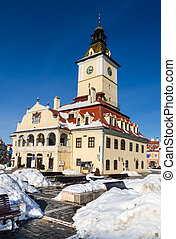 Brasov, medieval Council House - The city center of Brasov...