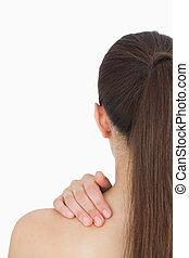 Woman having long hair