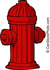 Hydrant on a white background vector illustration