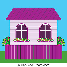 House - Vector illustration. It is created in the CorelDraw...
