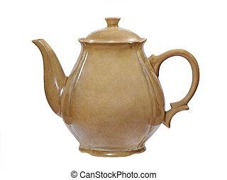 Old ceramic jug taken closeup.