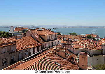 Lisbon roofs, Portugal