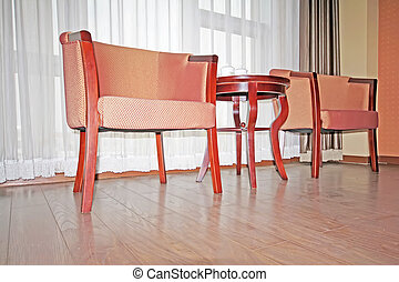 a chair in a room