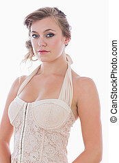 Woman in bridal style - Blonde woman in bridal style
