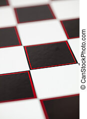 Chessboard with red detail