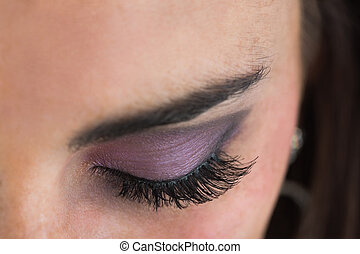 Close up of smoky eyes - Close up of made up smoky eyes