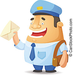 Postal Worker - Cartoon Character