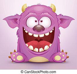 Laughing Monster - Cartoon Monster