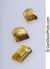 Close up of an citrine gem